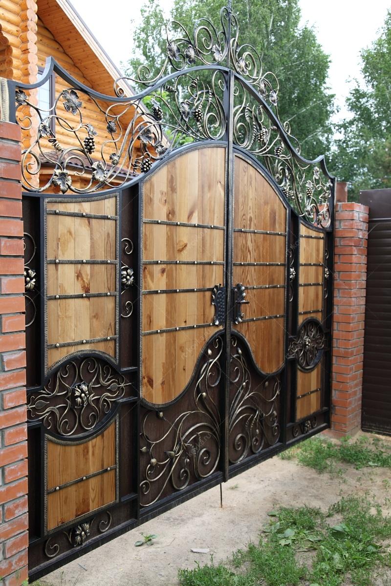 красивые ворота из металла фото это, вкусовые качества